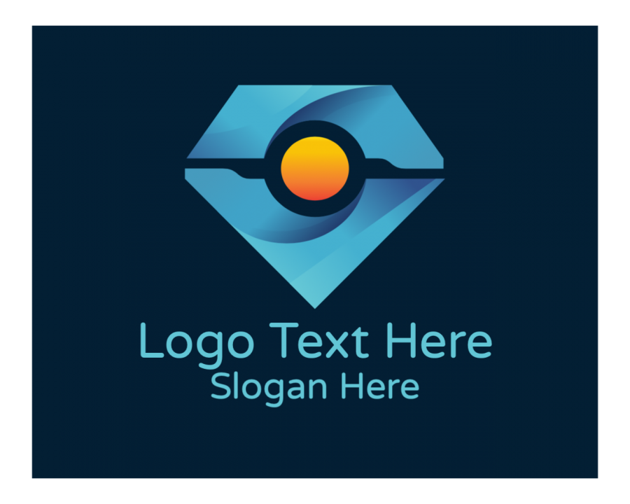 Diamond Online logo template with Electrical and Tech elements