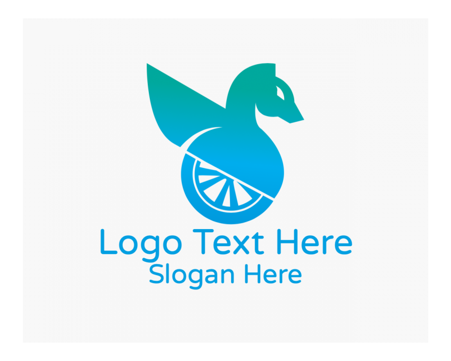 Fast Free logo design with Fly and Blue elements