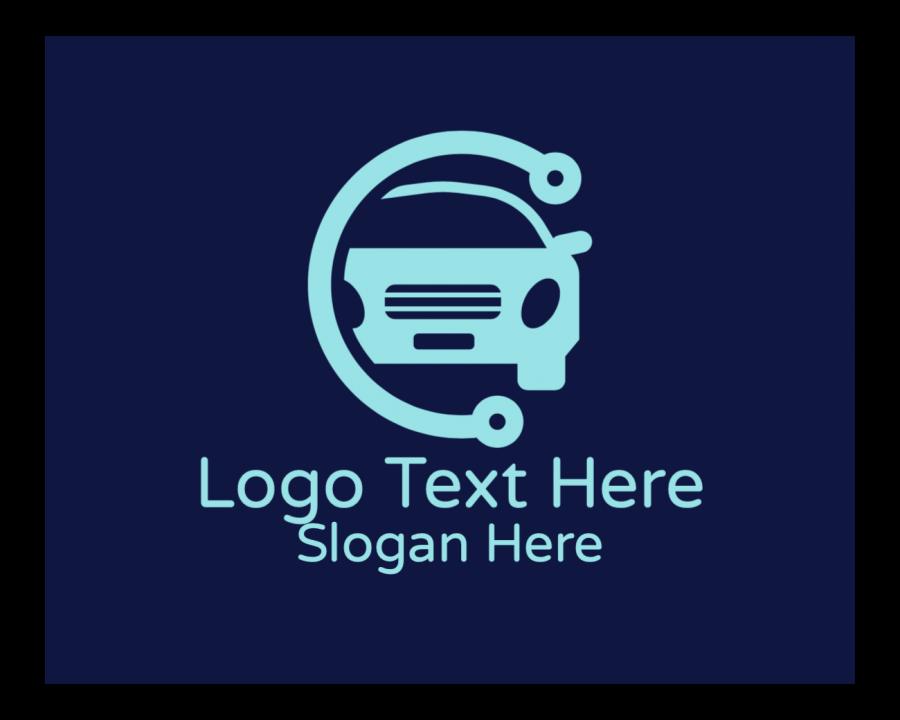 Car Dealer Online Design Maker with Car Repair and Blue elements