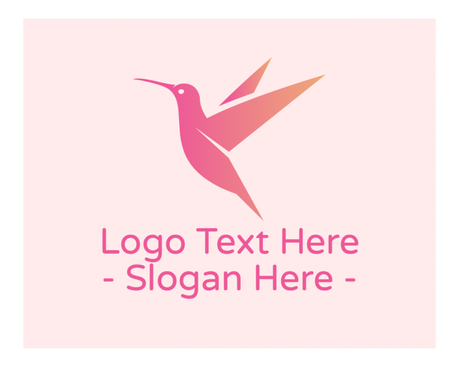 Cosmetics Logotype with Pink and Gradient elements