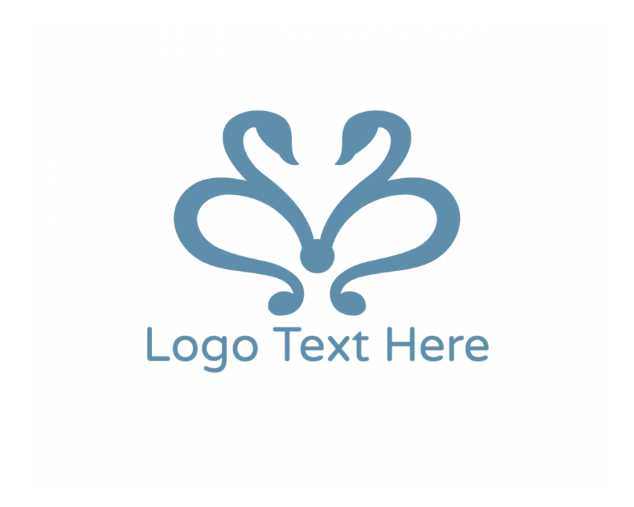 Duck Logo Template free with Bird and Blue elements