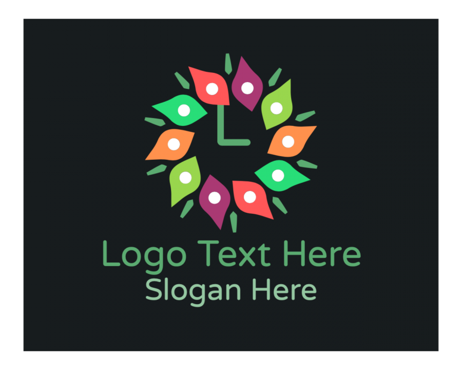 Multicolor Online Logo Creator with Ornamental and Lettermark elements