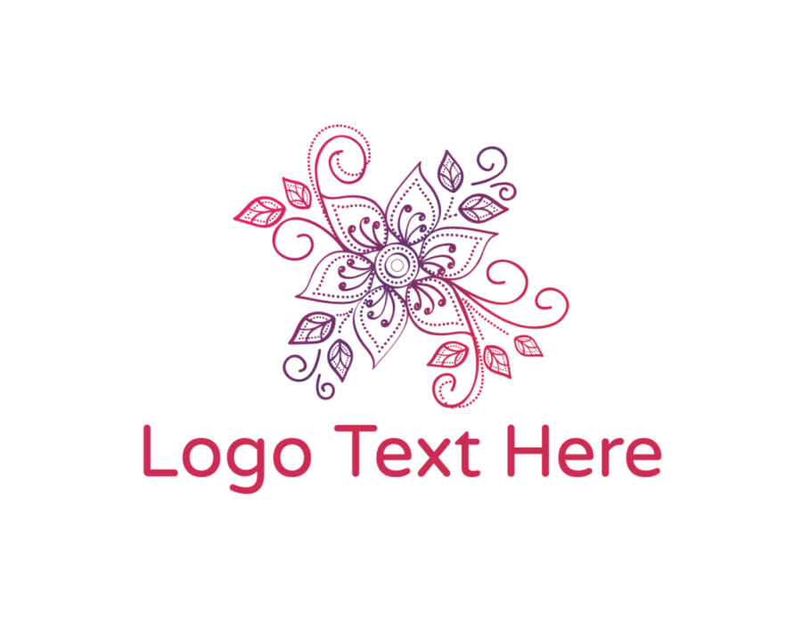 Leaf Online logo generator with Flower Shop and Purple elements