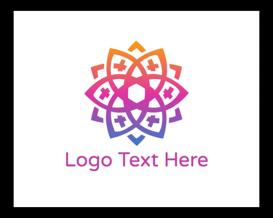 Feminine Logo Symbol with Flower and Jewelry elements