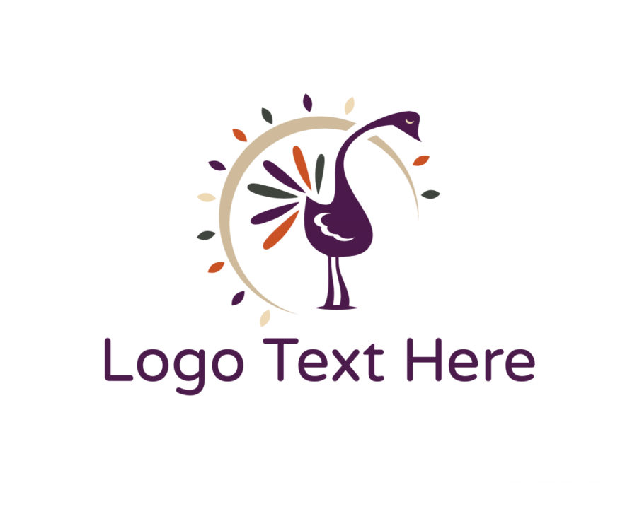 Leaf Logo Generator with Flower and Orange elements