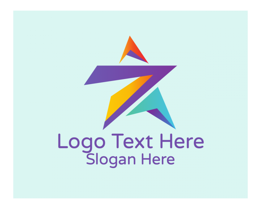 Star Logo symbol with Creative Agency and Business elements