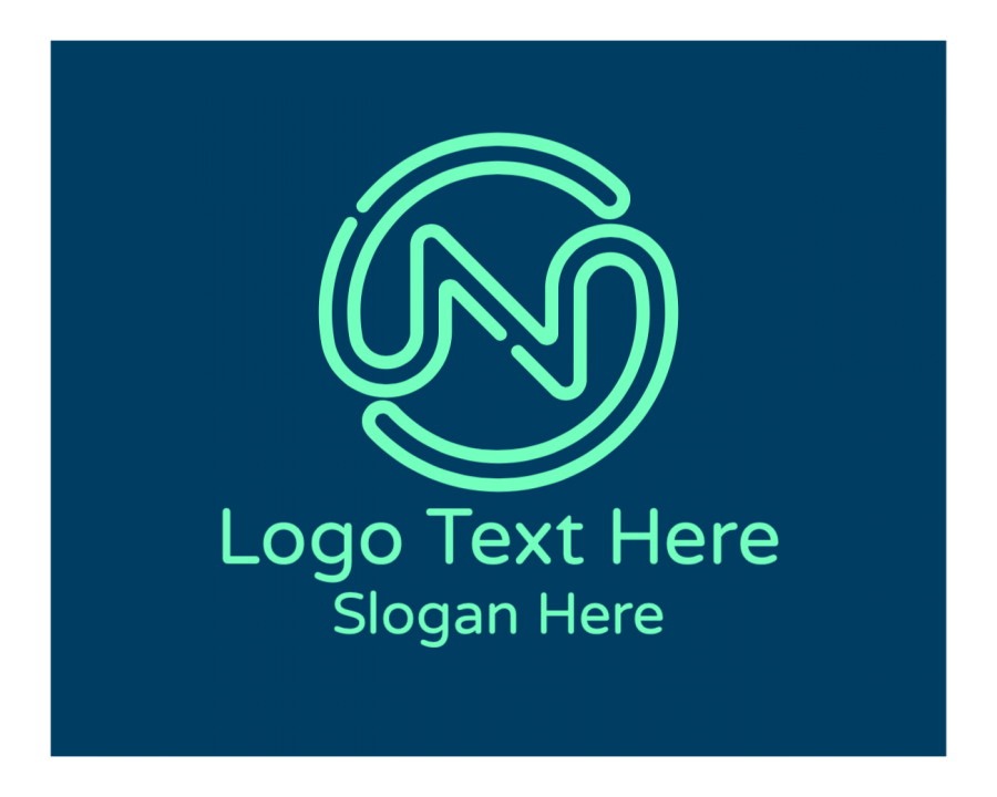 Green Online logo template with Company and Gaming elements