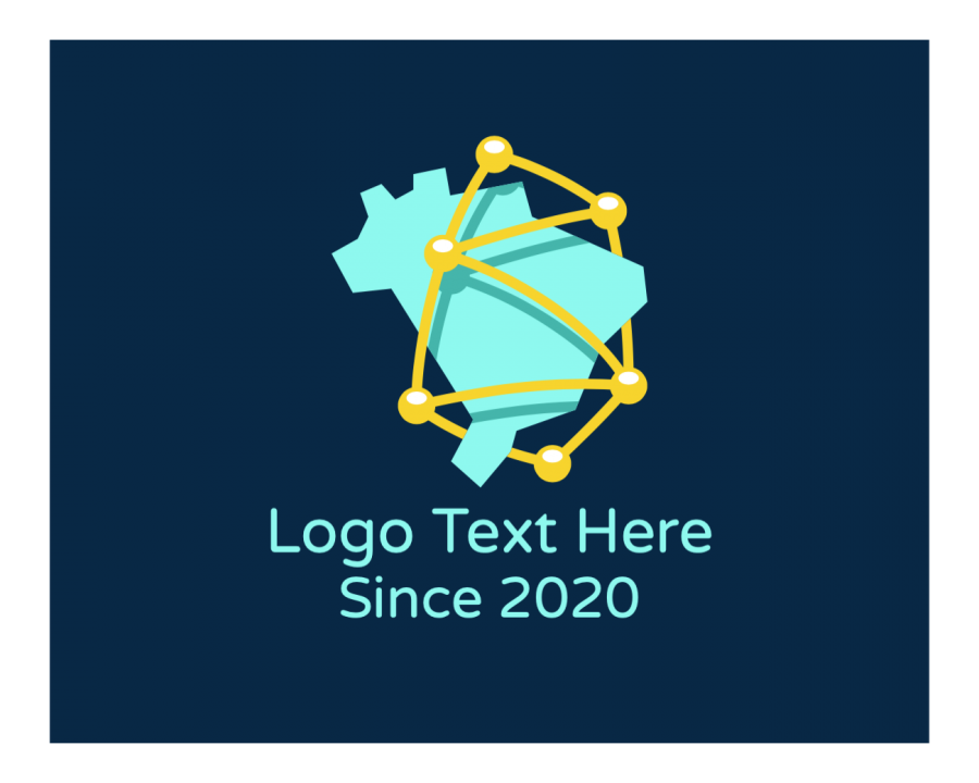Corporate Free logo design with Online and Tech elements