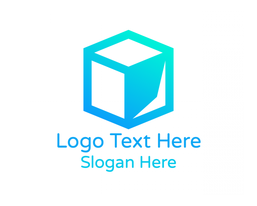 Hexagon Logo template with Blue and Tech elements