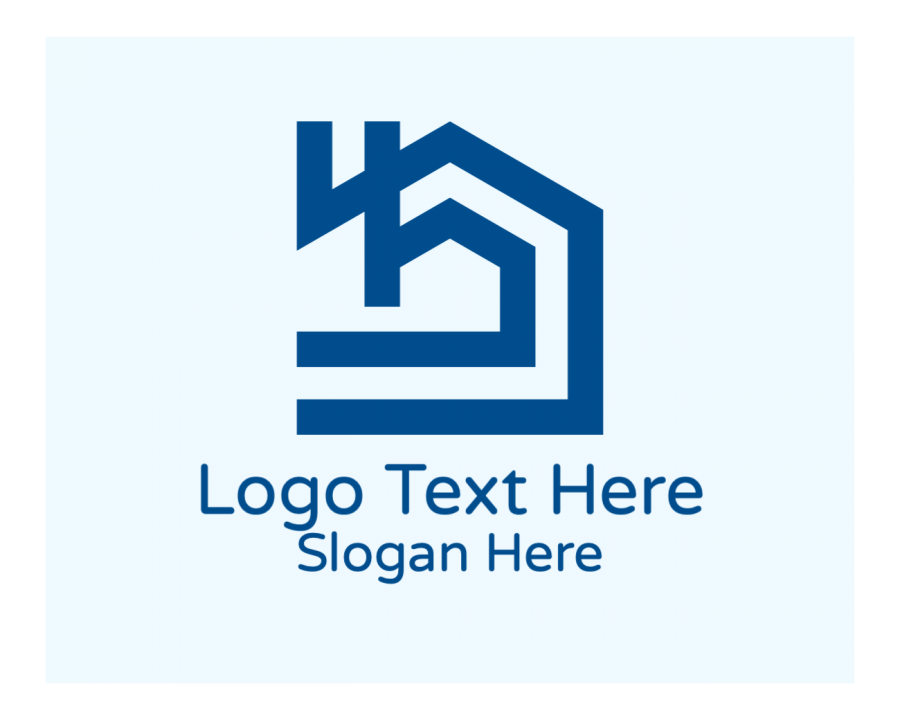 Contractor Logo symbol with Architecture and Company elements