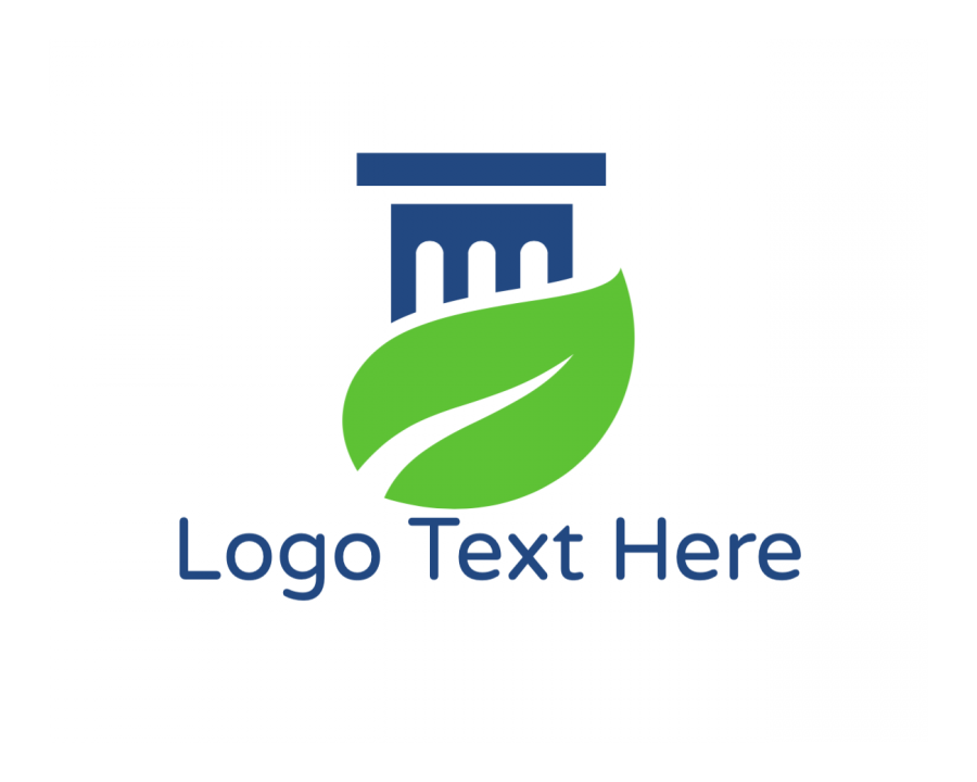 Lawyer Online logo template with Ecology and Green elements