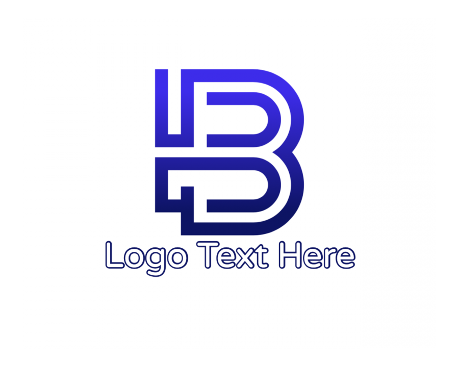 Blue Online Design Maker with Engineering and Lettermark elements