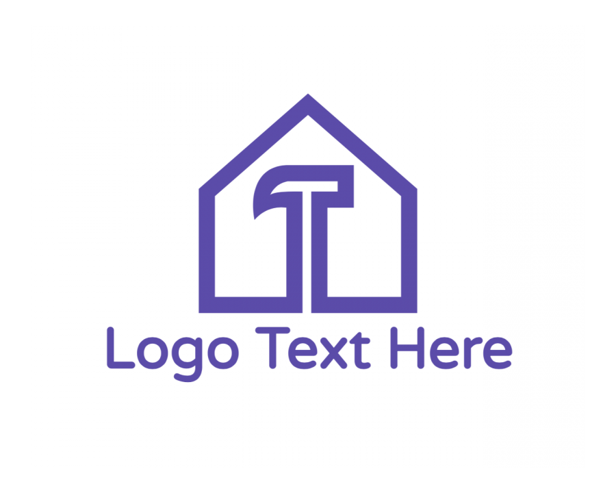 Outline Logo Template free with Handyman and Purple elements