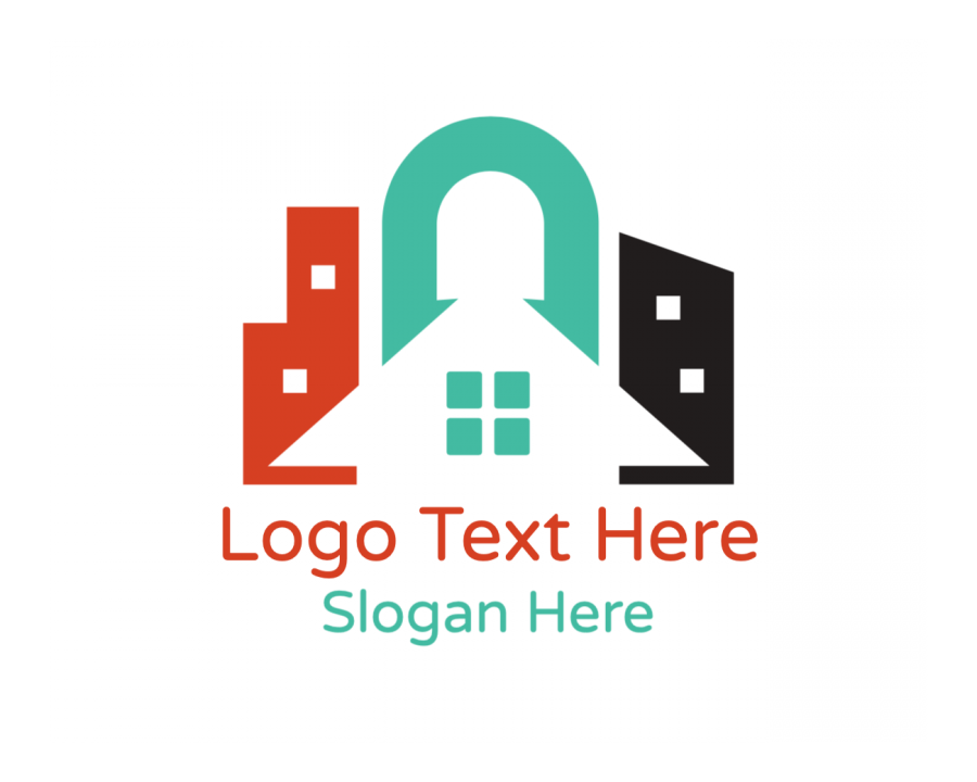 Building Logo design with Realtor and House elements