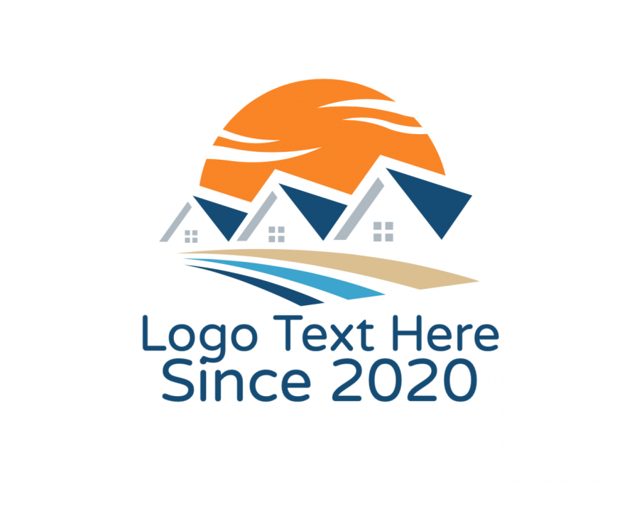 Broker Online logotype maker with Sun and House elements