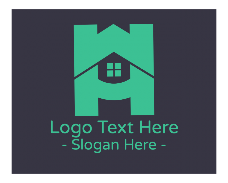 Real Estate Logo generator online with Initial and Lettermark elements