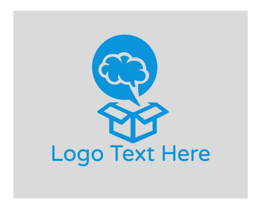 Brain Online Logo Maker with Artificial Intelligence and Box elements