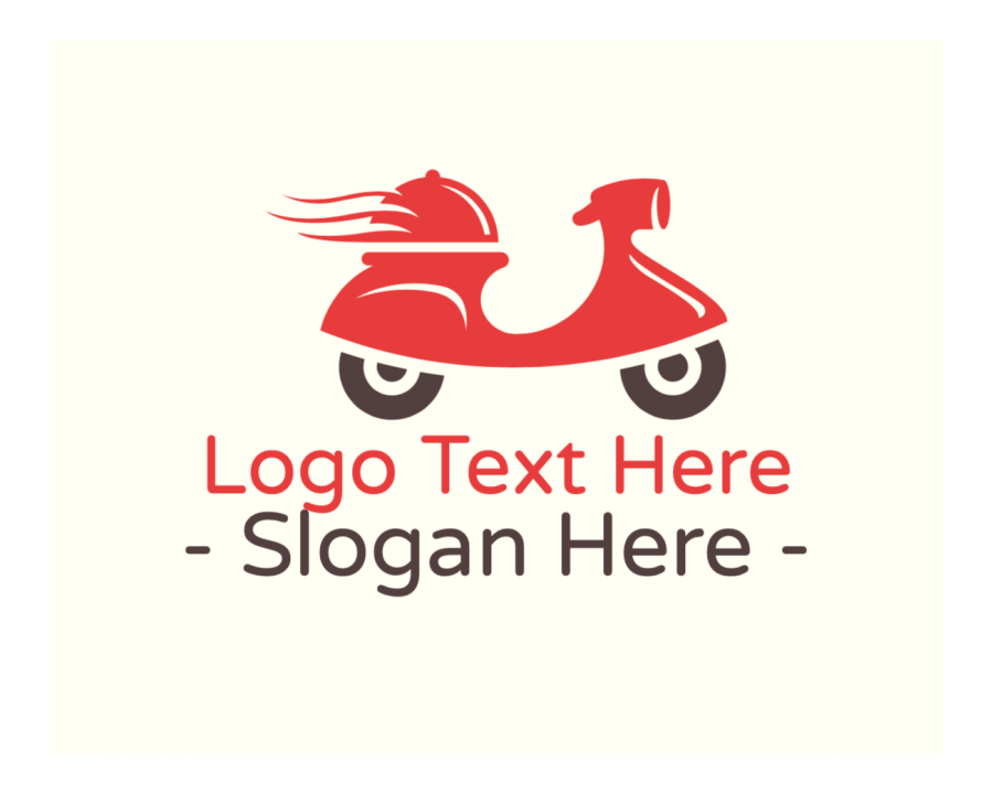 Delivery Logo design with Vehicle and Red elements