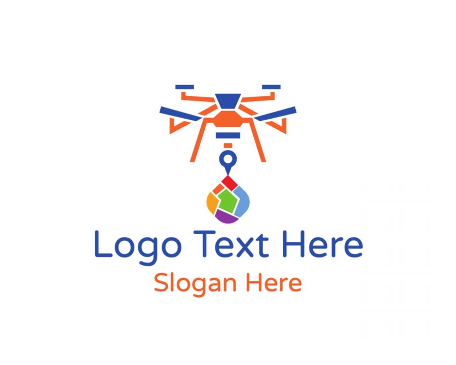 Delivery Free logo design with Map and Colorful elements