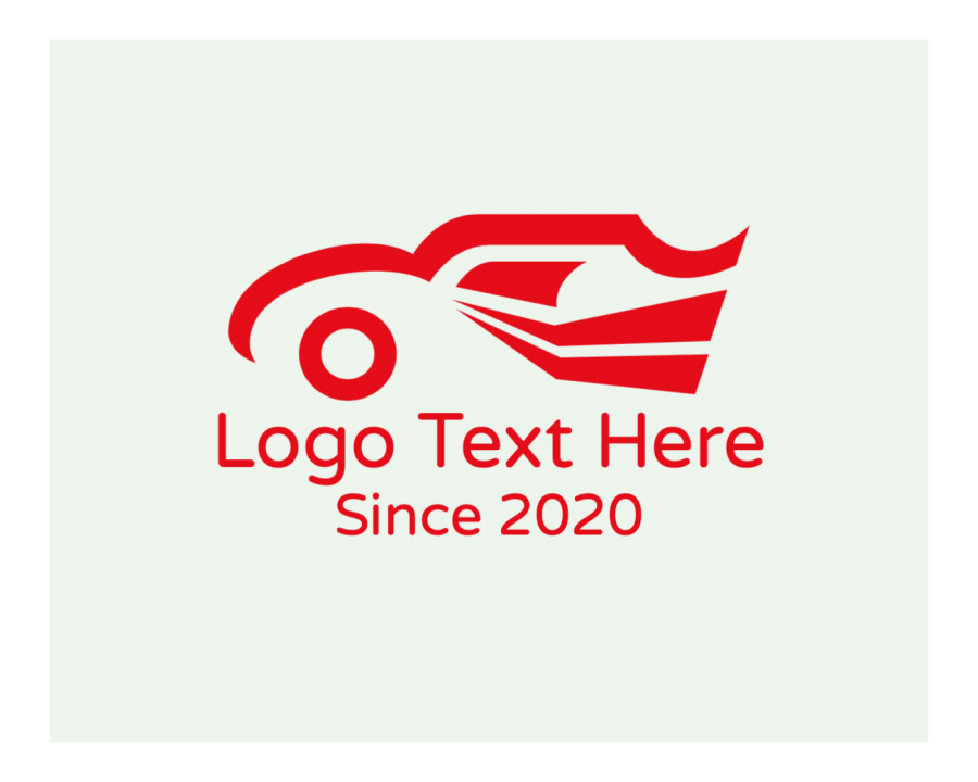 Red Logo generator online with Symbol and Financial elements