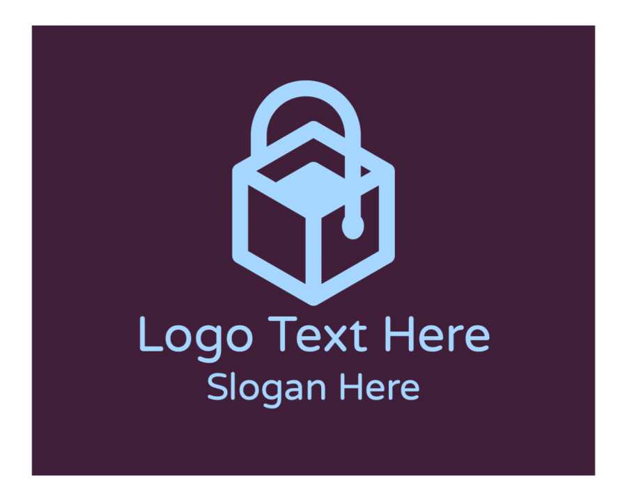 Cube Logo design maker with Online Shopping and Box elements