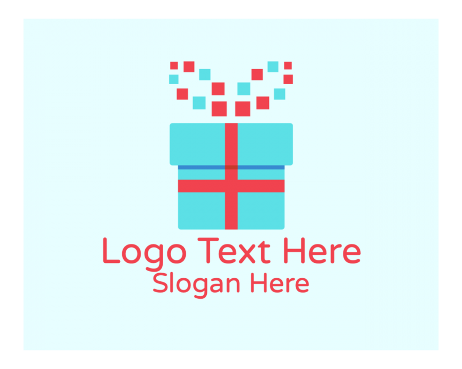 Present Online Logo Maker with Delivery and Online elements