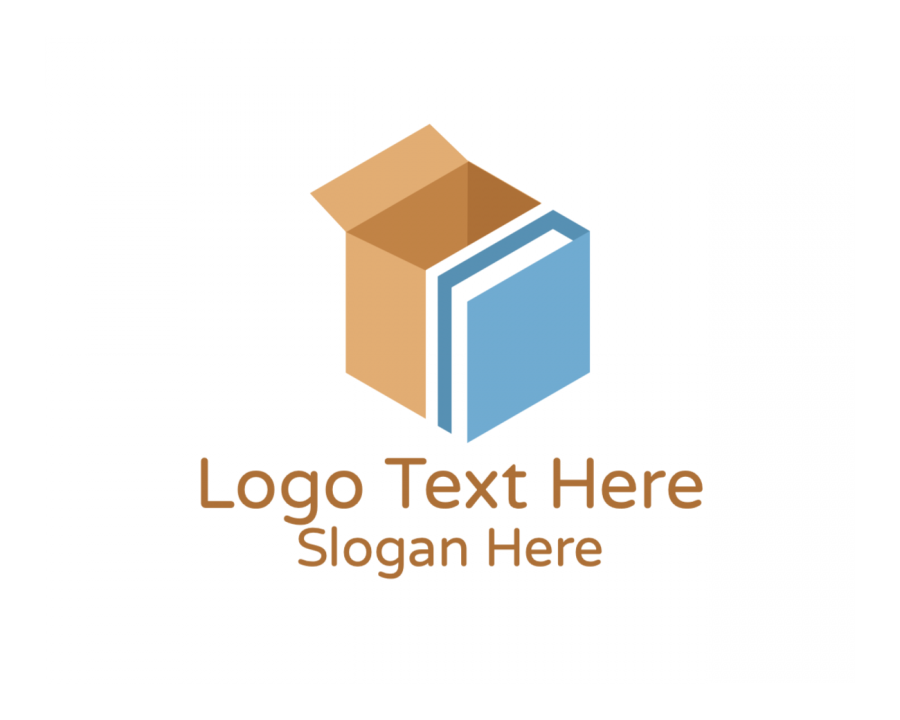 Courier Logotype with Storage and Box elements