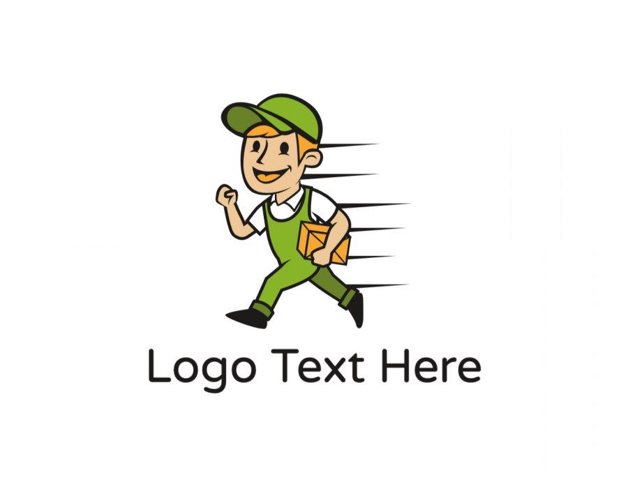 Character Logo Template free with Mascot and Box elements
