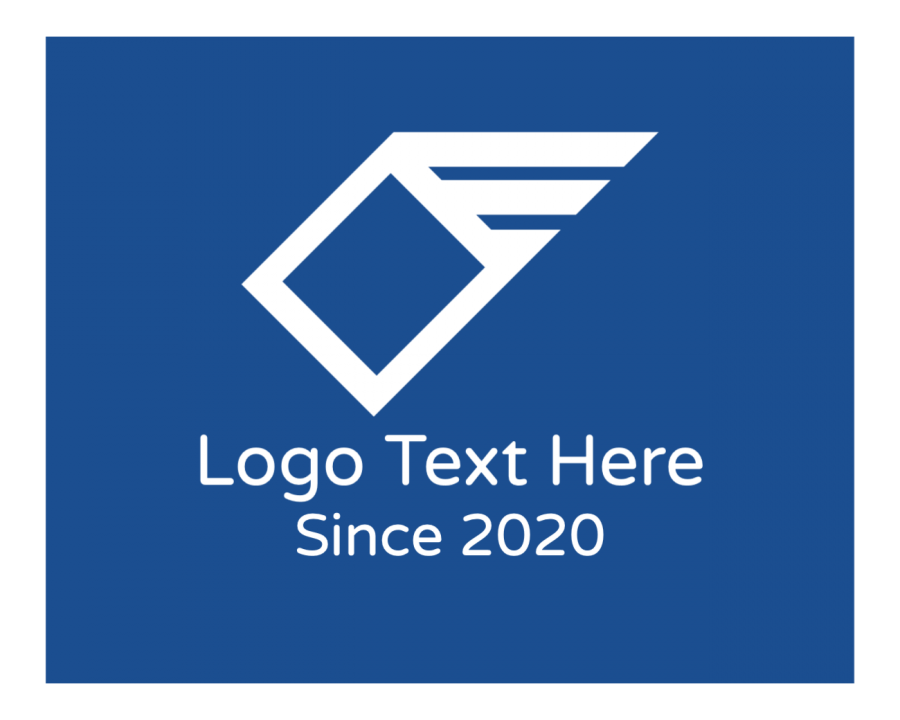Fly Logo Maker with Logistics and Simple elements