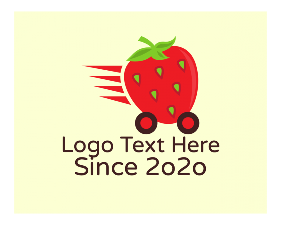 Delivery Online logo template with Express and Red elements