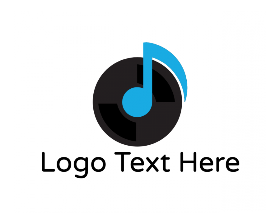 Disc Jockey Online logo template with Song and Music elements